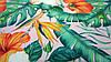 Ткань супер-софт персикового цвета принт джунгли, фото 2