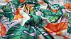 Ткань супер-софт персикового цвета принт джунгли, фото 5