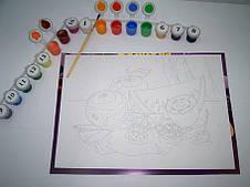 Набор для рисования  по номерам пионы и вишни , фото 3