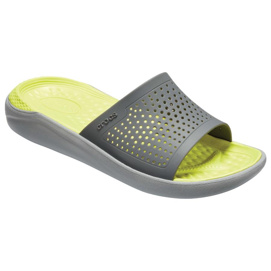 Crocs LiteRide Slide Grey/Yellow