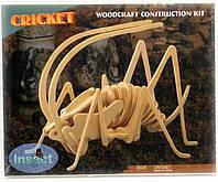 Сверчек - деревянная сборная 3д модель (3 пластины)