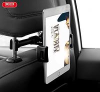 Универсальный автомобильный держатель для смартфона или планшета с кремлением на подголовник, черный цвет