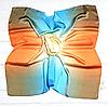 Шелковый платок Фиби, 90*90 см, радужный
