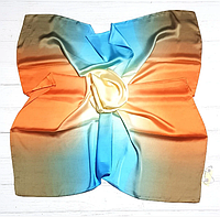 Шелковый платок Фиби, 90*90 см, радужный, фото 1