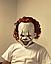 """Латексная маска Клоуна  Пеннивайз """"Оно"""" (IT) Стивена Кинга, фото 3"""