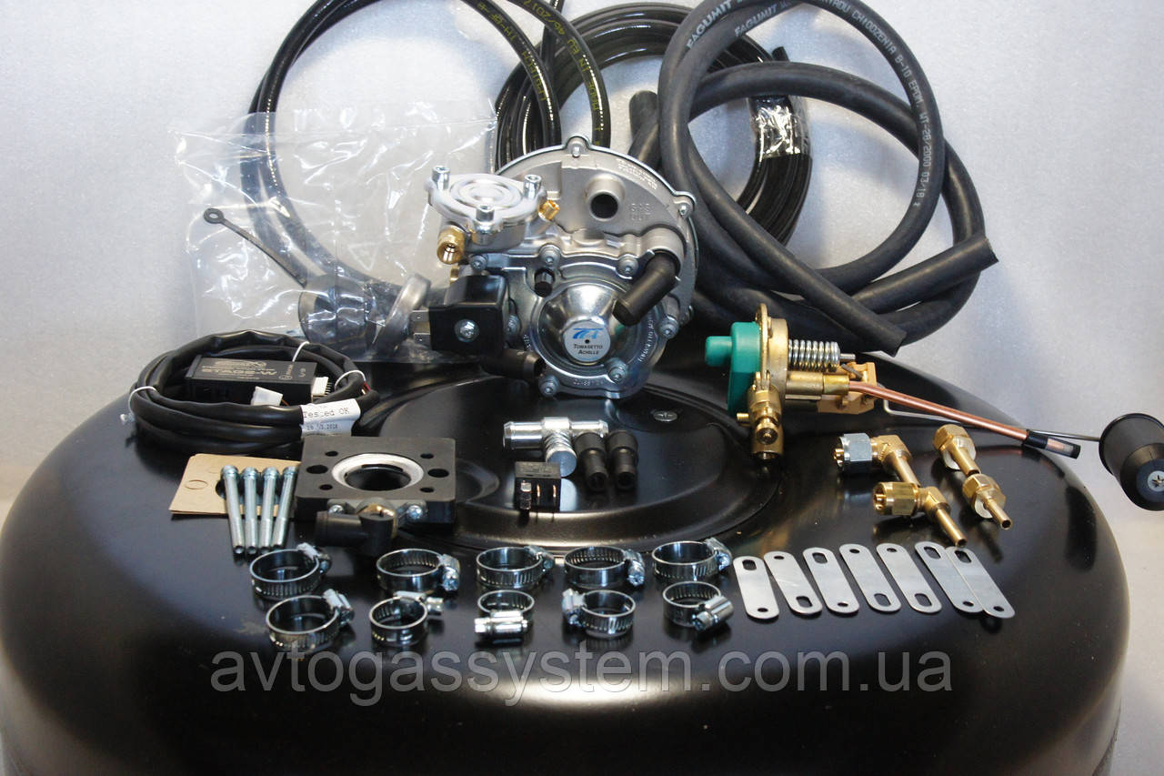 Комплект ГБО 2 поколения Tomasetto моноинжектор с баллоном под запаску