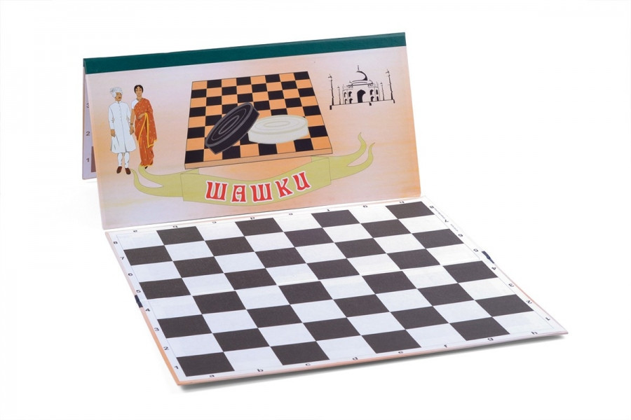 Доска картонная для шашек / шахмат (64 клетки)