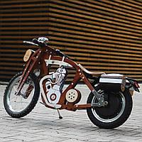 Электробайк, электромотоцикл Teslar DaisySign коричневый Vel-27