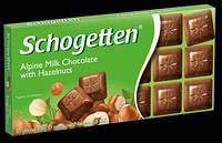 Шоколад Schogetten Alpine Milk with Hazelnuts (Шогеттен Альпийское молоко с фундуком)