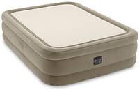 Надувная велюровая кровать Intex 64478, 152 х 203 х 51, со встроенным электрическим насосом