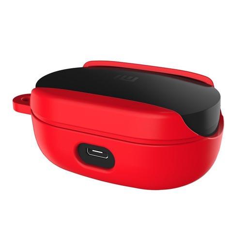Силиконовый противоударный чехол - Redmi Airdots без верхней крышки Красный