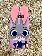 Силиконовый чехол Джуди Хоппс Samsung A5 2017 (A520), розовый