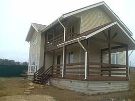 Деревянные каркасно-щитовые дома, строительство в кредит в Украине фото