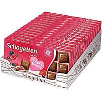 Шоколад Schogetten Cream&Berries с ягодно-кремовой начинкой