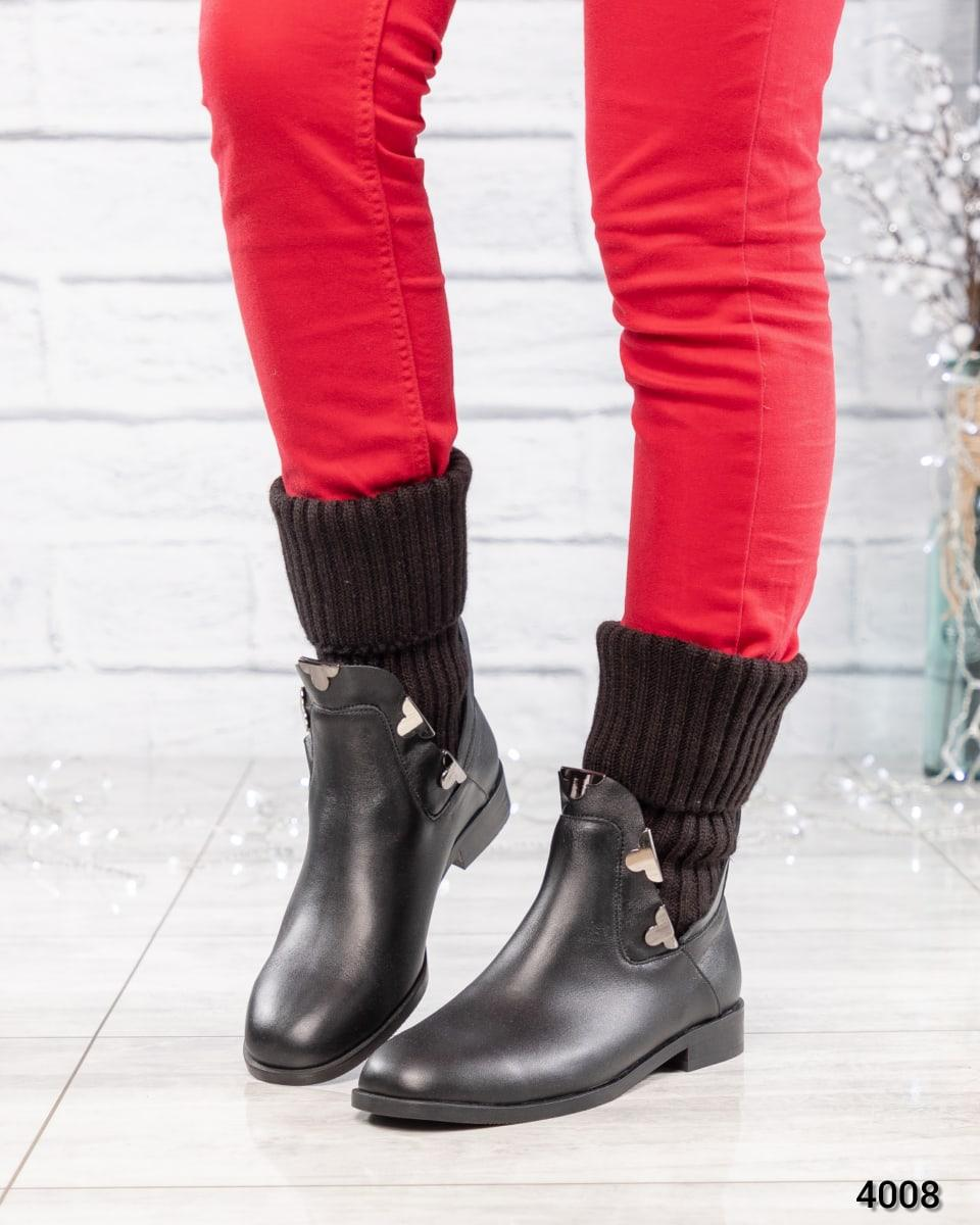 Ботинки женские с довязом