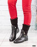 Ботинки женские с довязом, фото 1
