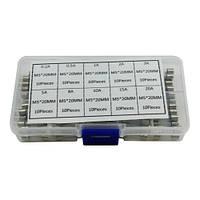 100x Предохранитель стеклянный М5х20мм, 0.5-30А, набор