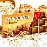 Молочный шоколад с начинкой овсяного печенья, Schogetten