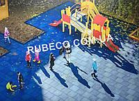 Напольное резиновое покрытие для детской площадки. Резиновая плитка 500*500мм, толщина 30мм