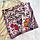 Шелковый платок Птички, 90*90 см, графит, фото 8