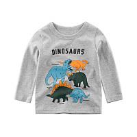 """Детская футболка с длинным рукавом """"Динозавры"""""""