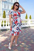 Платье летнее легкое на запах, полубатал р.48-50 код 028Л