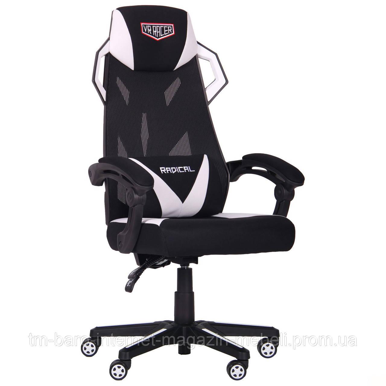Кресло VR Racer Radical Taylor черный/белый, Бесплатная доставка