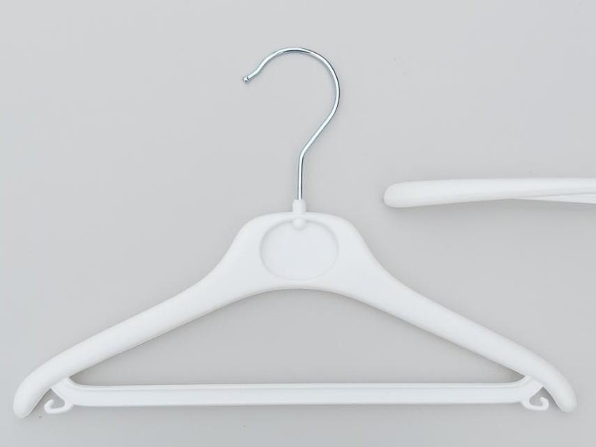 Довжина 30 см. Плічка дитячі пластмасові V-білі DY30