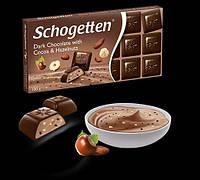 Schogetten - натуральный тёмный шоколад с начинкой из крем-какао