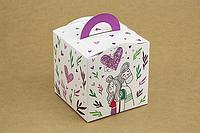 "Коробка ""Кубик с ручкой"" М0067-о1 ""Love"", размер: 115*115*115 мм, фото 1"