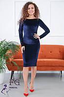 Облегающее платье из бархата 1220D/01, фото 1
