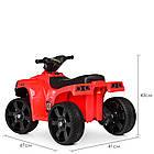 Детский электрический квадроцикл BAMBI  M 3893 EL-3 красный, фото 5