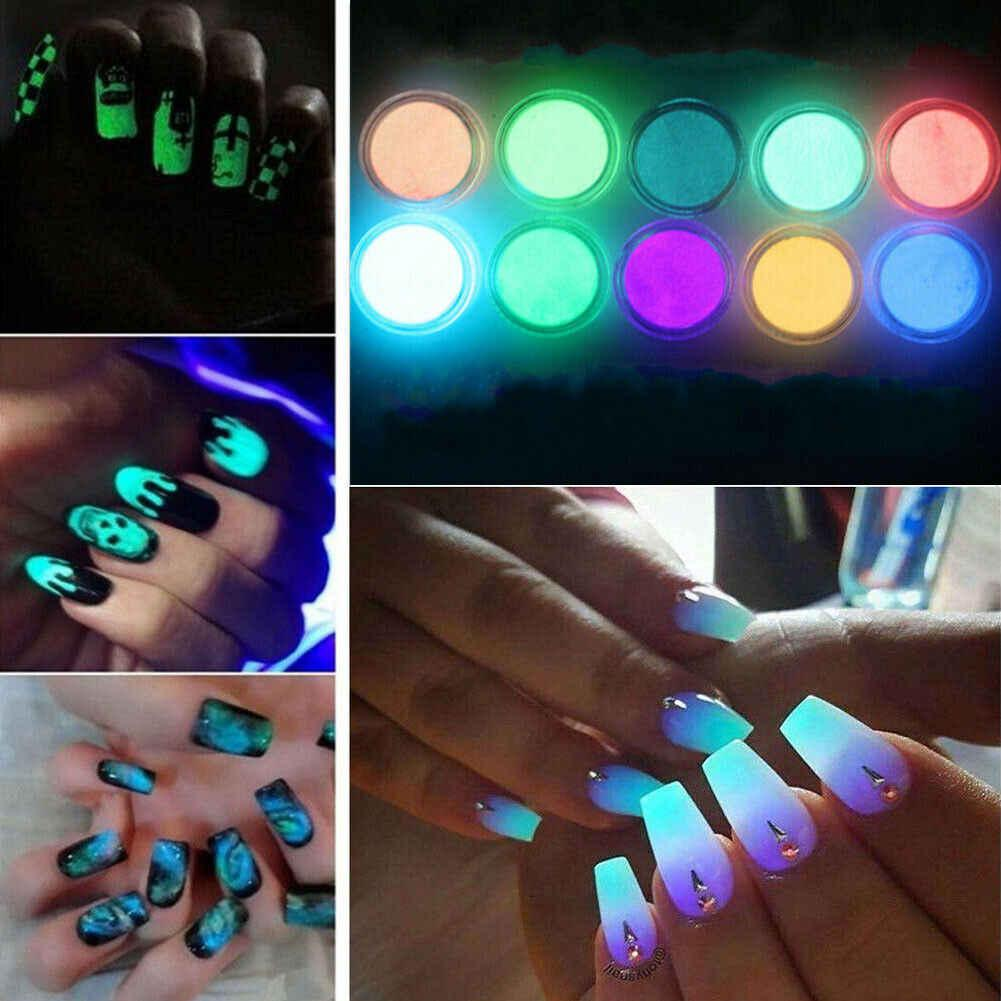 Флуоресцентный невидимый пигмент для дизайна ногтей