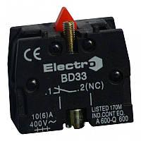 Доп. контакт для кнопок та перемикачів кнопкових  NC ElectrO (шт.)