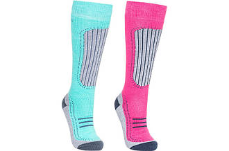 Носки г/л Trespass Janus Ii - Female Ski Sock Lagoon/pink Lady 2 пары