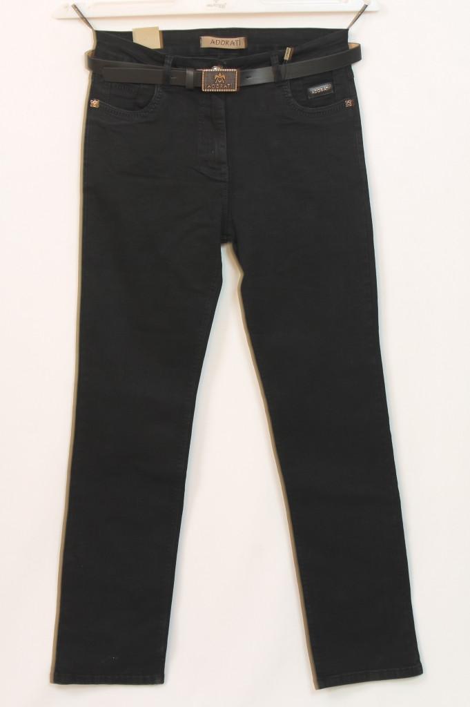 Турецкие женские черные джинсы с поясом, размеры 48-54