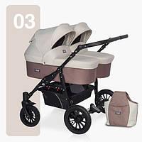 Детская универсальная коляска для двойни Riko Saxo 03