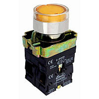 Кнопка  PB2-ВW3561  жовта   Ø22mm  NO + NC  з LED підсвіткою  ElectrO (шт.)