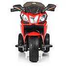 Детский мотоцикл с кожаным сиденьем M 3912EL-3 красный, фото 5