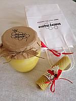 Медовий подарунок в білому пакеті 550 мл