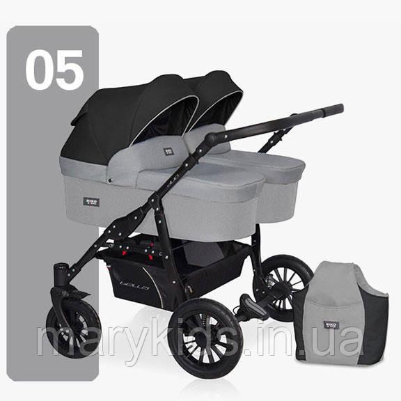 Детская универсальная коляска для двойни Riko Saxo 05