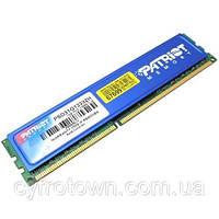 Оперативная память PATRIOT DDR3 1Gb PC3-10600U 1333 MHz intel и AMD разные производители