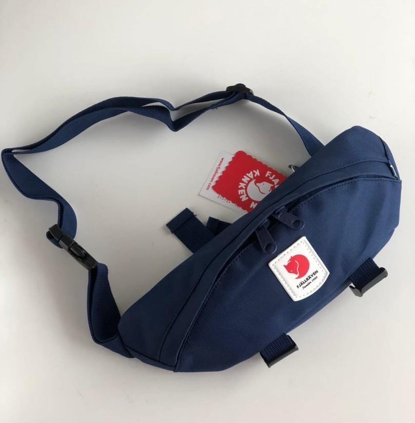 Поясная сумка Kanken Fjällräven Ulvo Hip Pack Medium синий. Живое фото (Реплика ААА+)