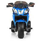 Детский мотоцикл с кожаным сиденьем M 3912EL-4 синий, фото 3