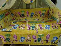 """Детский (Полуторный) Комплект постельного белья """"Фиксики"""" TM Selena"""