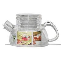 """Чайник стеклянный со стеклянным ситом """"Суоми"""" 600 мл"""
