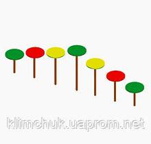 """Гімнастичний елемент крокохід """"Грибочки"""" для дитячих ігрових майданчиків KidSport"""