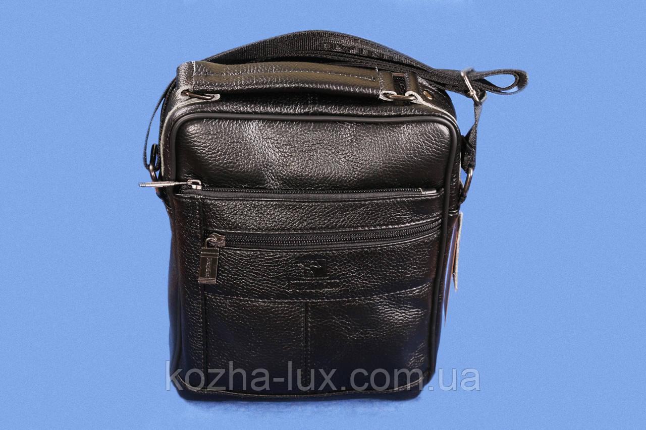 Мужская кожаная сумка, натуральная кожа