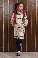 Детское Пальто принт на девочку