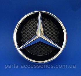 Mercedes CLS W218 звезда эмблема в решетку радиатора и крепление новые оригинал